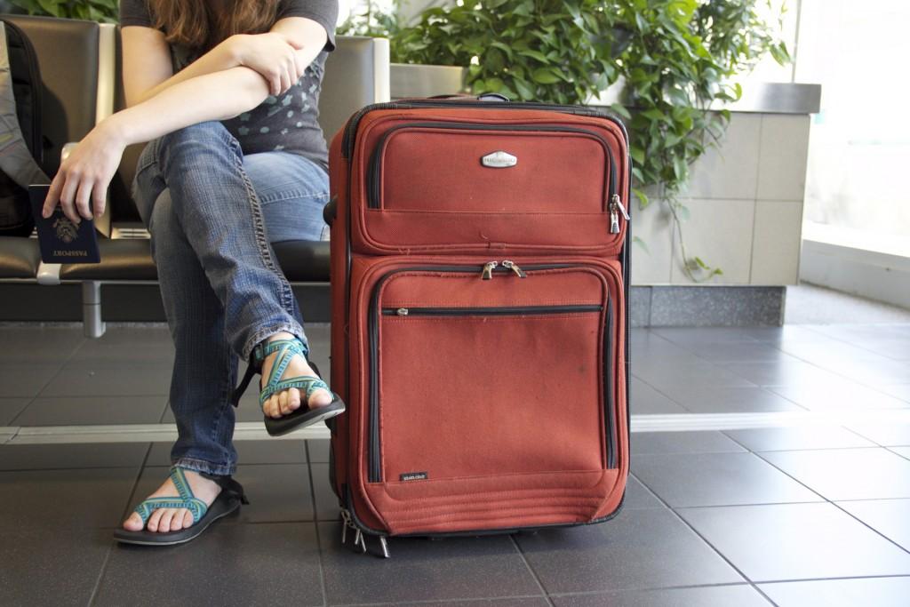 maleta con pasajero