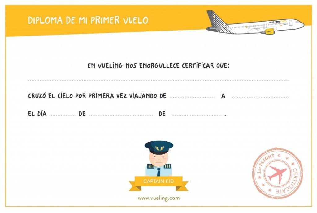 diploma de vuelo vueling